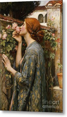 The Soul Of The Rose, 1908 Metal Print by John William Waterhouse
