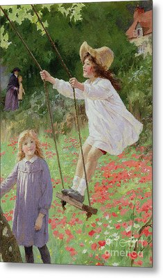 The Swing Metal Print by Percy Tarrant