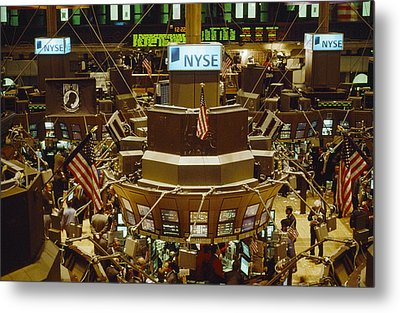 The Trading Floor Of The New York Stock Metal Print by Justin Guariglia