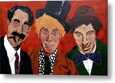 Three's Comedy Metal Print