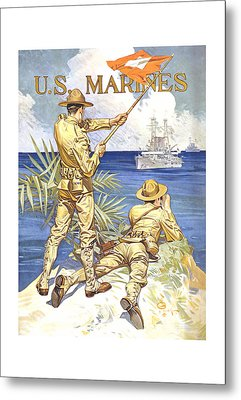 Us Marines - Ww1 Metal Print by War Is Hell Store