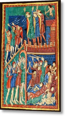 Vikings Invade England 9th Century Metal Print