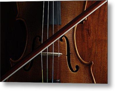 Violin Metal Print by Nichola Evans