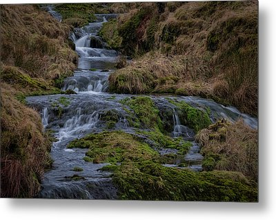 Metal Print featuring the photograph Waterfall At Glendevon In Scotland by Jeremy Lavender Photography