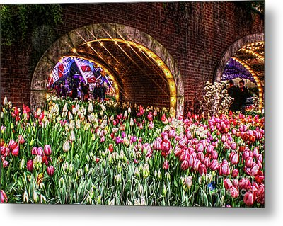Welcoming Tulips Metal Print