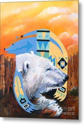 White Bear Goes Southwest Metal Print