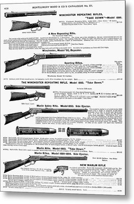 Winchester Rifles Metal Print by Granger