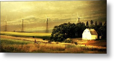 Metal Print featuring the photograph Wind Turbines by Julie Hamilton