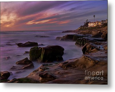 Metal Print featuring the photograph Windansea Beach At Dusk by Eddie Yerkish