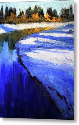 Winter River Metal Print by Nancy Merkle