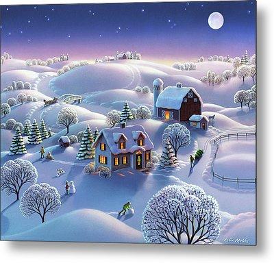 Winter Night  Metal Print by Robin Moline