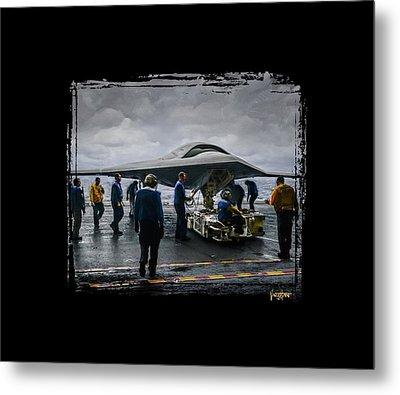 X-47b Uav Metal Print