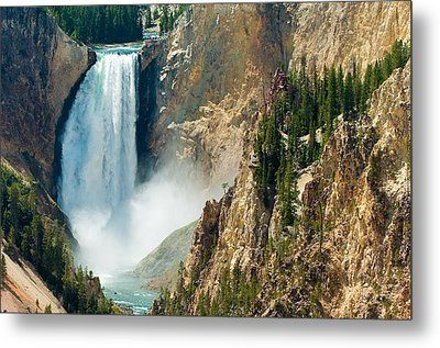 Yellowstone Waterfalls Metal Print by Sebastian Musial