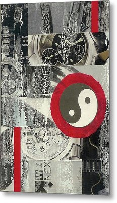 Metal Print featuring the mixed media Ying Yang by Desiree Paquette