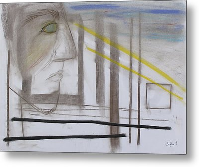 Metal Print featuring the pastel 1007 by Stefan Hermannsson