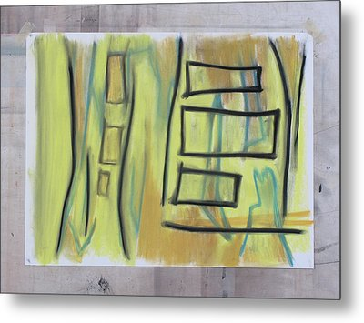 Metal Print featuring the pastel 1016 by Stefan Hermannsson
