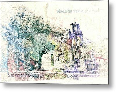 10858 Mission San Fransico De La Espada Metal Print