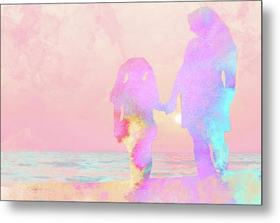 10876 Sunset With Mom Metal Print by Pamela Williams
