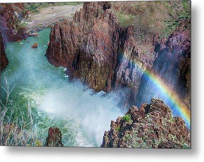 10883 Rainbow Over Owyhee Metal Print