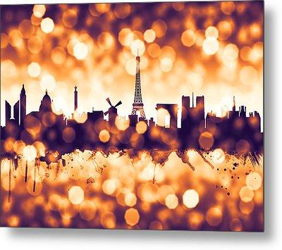 Paris France Skyline Metal Print by Michael Tompsett