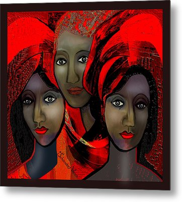 1387 - Harem Fantasy - 2017 Metal Print by Irmgard Schoendorf Welch
