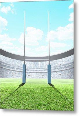Floodlit Stadium Day Metal Print by Allan Swart