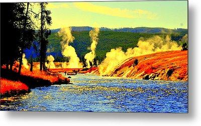 Yellowstone Park Metal Print by Aron Chervin