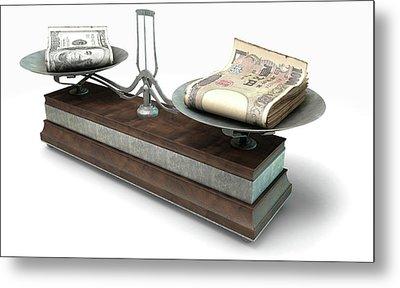 Balance Scale Comparison Metal Print