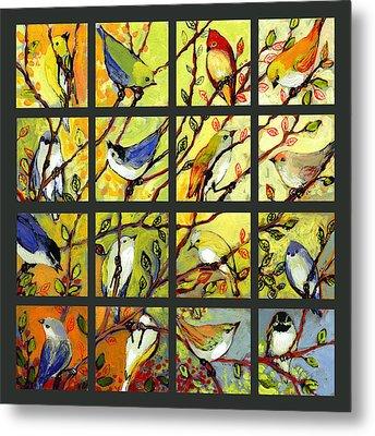 16 Birds Metal Print by Jennifer Lommers