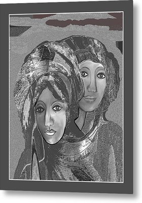Metal Print featuring the digital art 1667 - The Sisters by Irmgard Schoendorf Welch