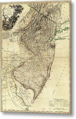 1778 Nj Map Metal Print by Mark Miller