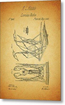 1853 Exercising Machine Patent Metal Print