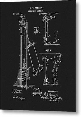 1885 Exercise Apparatus Metal Print