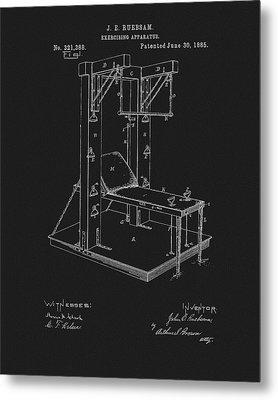 1885 Exercise Apparatus Equipment Metal Print