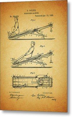 1886 Exercising Machine Patent Metal Print