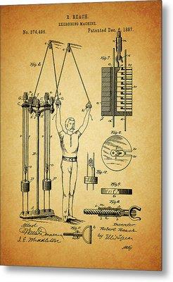 1887 Exercising Machine Patent Metal Print