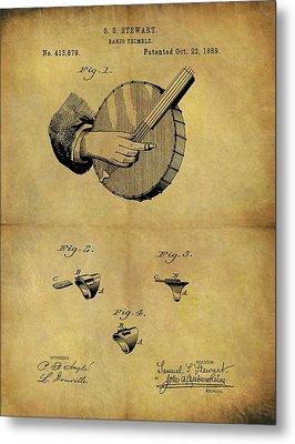 1889 Banjo Patent Metal Print