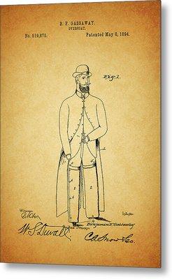 1894 Overcoat Patent Metal Print by Dan Sproul