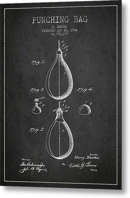 1904 Punching Bag Patent Spbx12_cg Metal Print
