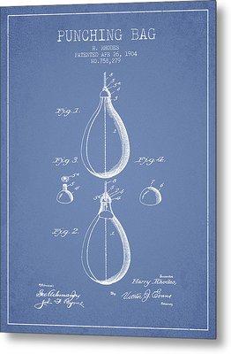 1904 Punching Bag Patent Spbx12_lb Metal Print