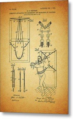 1905 Exercise Apparatus Patent Metal Print