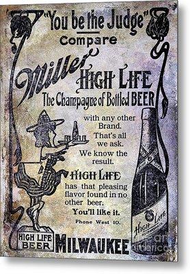 1907 Miller Beer Advertisement Metal Print
