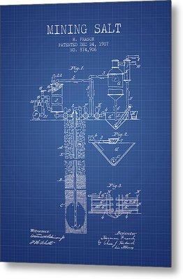 1907 Mining Salt Patent En36_bp Metal Print