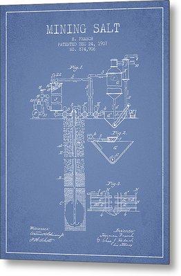1907 Mining Salt Patent En36_lb Metal Print