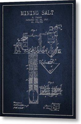 1907 Mining Salt Patent En36_nb Metal Print