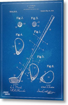 1910 Golf Club Patent Artwork Metal Print