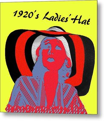 1920s Ladies Hat Metal Print by Bruce Iorio