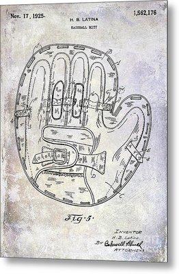 1925 Baseball Glove Patent Metal Print