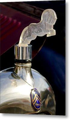 1925 Citroen Cloverleaf Hood Ornament Metal Print by Jill Reger