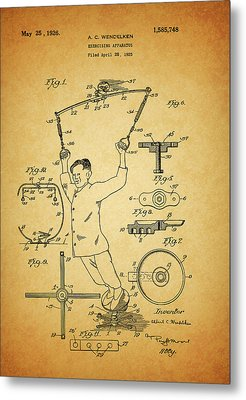 1926 Exercise Machine Patent Metal Print